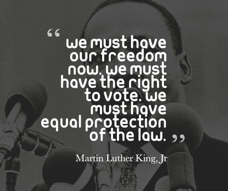 Martin Luther King Jr quote on equality regarding rights of voting
